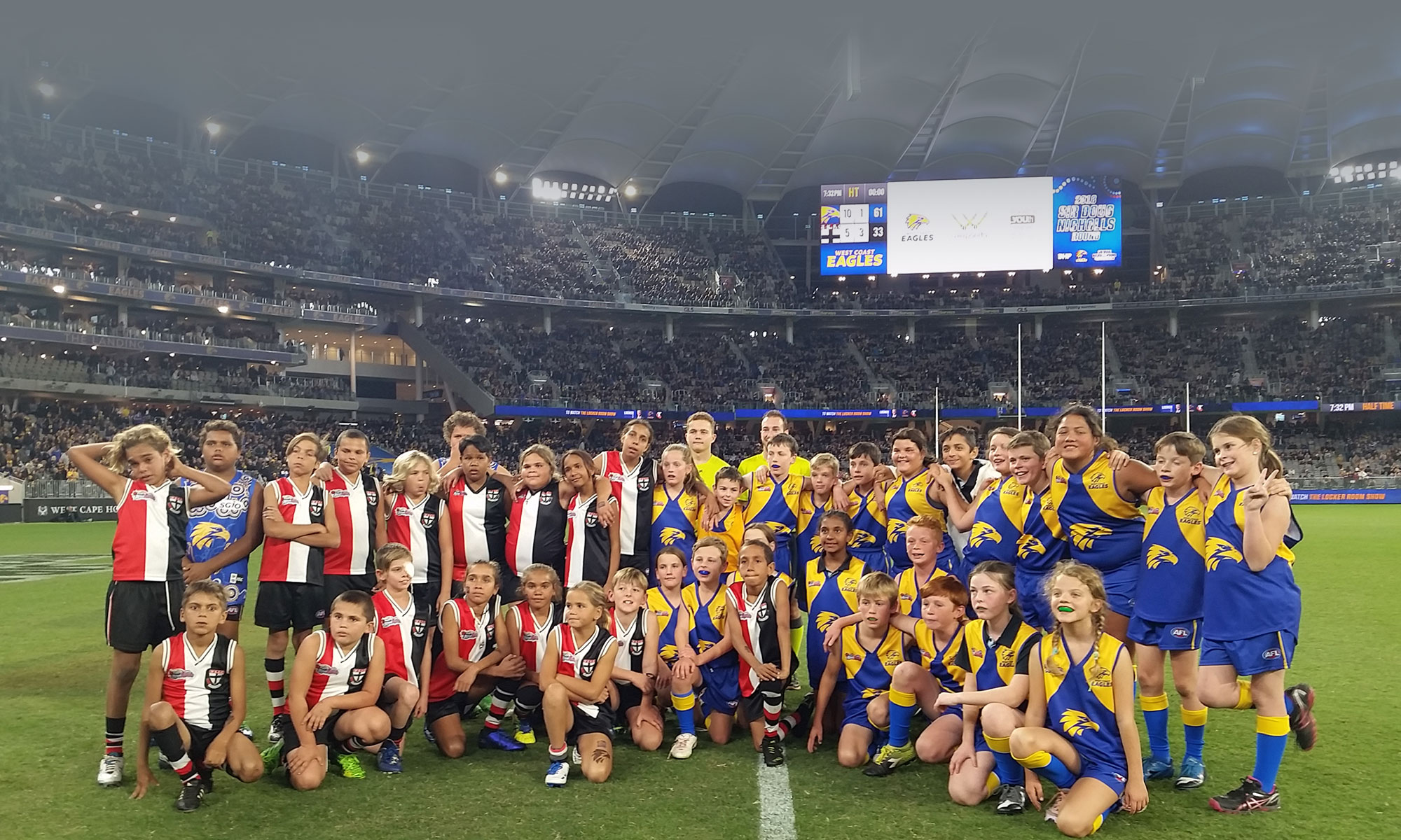 Stephen Michael Foundation - half time game at Optus Stadium Perth